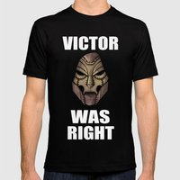 Victor Was Right Mens Fitted Tee Black SMALL