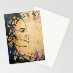Looking to the Future -beautiful woman Stationery Cards