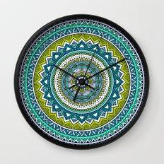 Hippie Mandala 2 Wall Clock