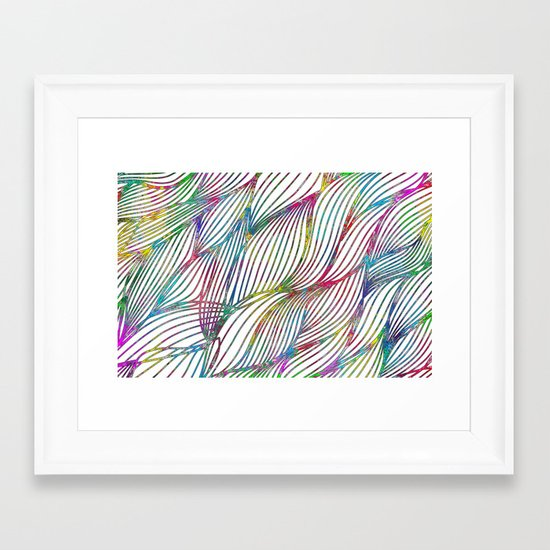 Trace Paint Abstract Framed Art Print