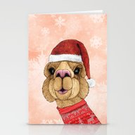 Alpaca Christmas Stationery Cards