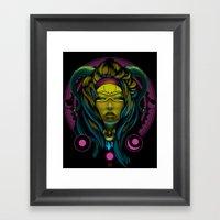 Neon Voodoo Framed Art Print