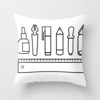 CREATIVE TOOLS / Geometr… Throw Pillow