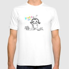 Doodle Bug White SMALL Mens Fitted Tee