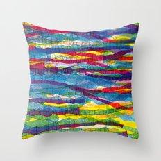 stripes traffic Throw Pillow