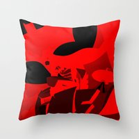 Knight Over Gotham Throw Pillow
