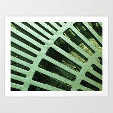 Green Grate Art Print