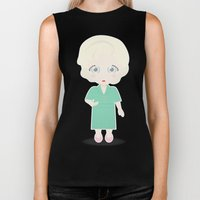 Girls in their Golden Years - Rose Biker Tank