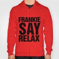 Vintage 80's Print Frankie Says Relax Hoody