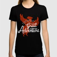 Great Adventure Womens Fitted Tee Black SMALL