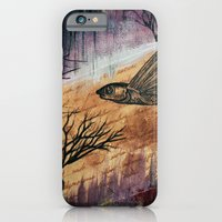 iPhone & iPod Case featuring Literary Flying Fish by Sarah Sutherland