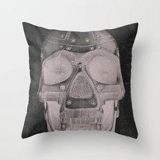 RoboSkull Throw Pillow