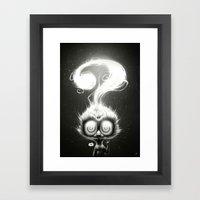 Question! Framed Art Print