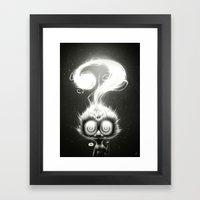 Question! Framed Art Print
