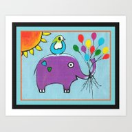 Art Print featuring Up Up And Away With Bord… by Kathleen Sartoris