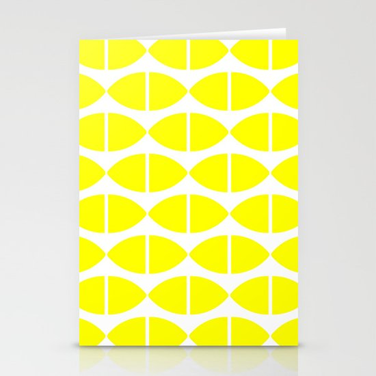 Lemons Pattern Stationery Card
