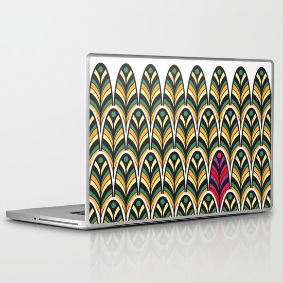 Rubine Feather Laptop & iPad Skin