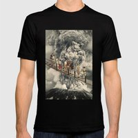 the eruption... Mens Fitted Tee Black SMALL