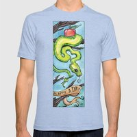 Eat Your Apples Mens Fitted Tee Tri-Blue SMALL