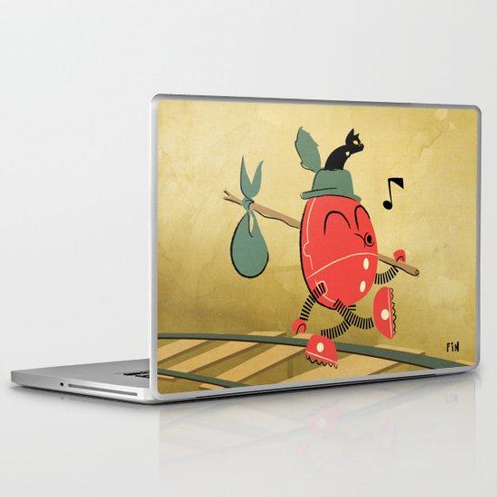 It's a Carefree Hobo Life Laptop & iPad Skin