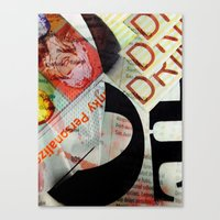 Abstract Newspaper Canvas Print
