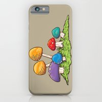 iPhone & iPod Case featuring Mushrooms (Colors) by WesSide