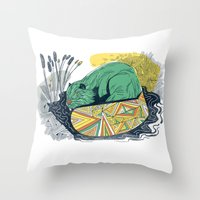 The Beaver Throw Pillow