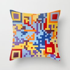 Number Three Multicolour Series  Throw Pillow