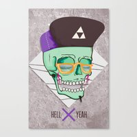 Hell Yeah Skull 3 Canvas Print