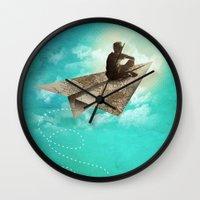 Paper Aeroplane Wall Clock
