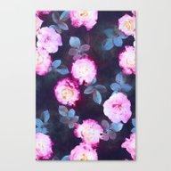 Twilight Roses Canvas Print