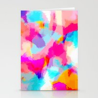 Zayda - Bright pink and blue abstract art Stationery Cards