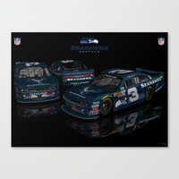 Seattle Seahawks NASCAR Canvas Print