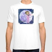 Moonlight Lion Strings  Mens Fitted Tee White SMALL