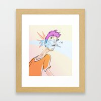 Reality Punch Framed Art Print