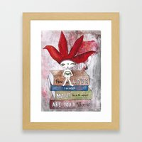 Soul-Searching Bhoomie Framed Art Print