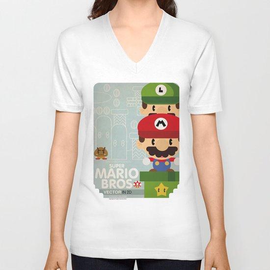 mario bros 2 fan art V-neck T-shirt