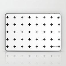 Black Plus on White /// www.pencilmeinstationery.com Laptop & iPad Skin
