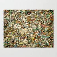 Monster Salad Canvas Print
