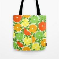 Tote Bag featuring A Slice of Citrus by Wild Notions