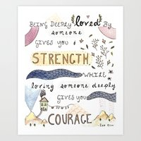 Deeply Loved Art Print