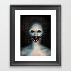 Shark Girl Framed Art Print