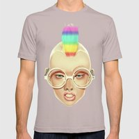 Rainbow Mens Fitted Tee Cinder SMALL