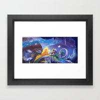 Space Race Framed Art Print
