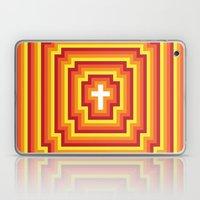 Technicolour Cross - Orange Laptop & iPad Skin