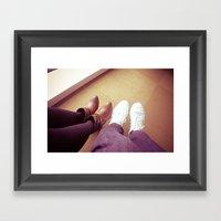 Take a walk in my shoes. Framed Art Print
