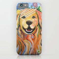 Max ... Abstract dog art, Golden Retriever iPhone 6 Slim Case