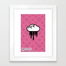 Drip World Total Class Pink Framed Art Print