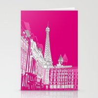 Glorious Paris - Pink Stationery Cards
