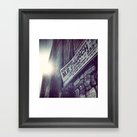 Abandoned Church in Chicago - Sunbeam Framed Art Print